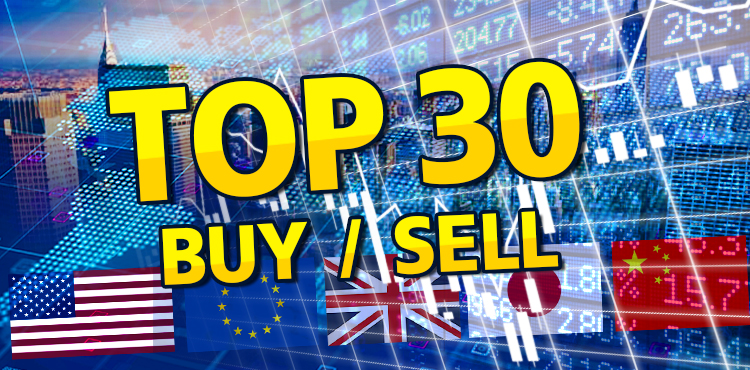 Top 30 BUY/SELL Shares from Foreign Investors (NVDR) on September 20, 2021